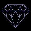 Bright gradient diamond - luxury and wealth