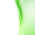 Bright green abstract swoosh wave border line Royalty Free Stock Photo