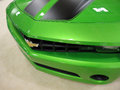 Bright green chevy camero car hood san francisco ca november is displayed at the rd international auto show on saturday november Stock Photography