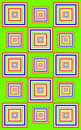 Funky green squares Royalty Free Stock Photo