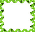 Bright green glass frame Stock Images