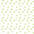 Bright green leaves are falling down seamless raster pattern small Stock Photo
