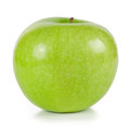 The bright green ripe apple Royalty Free Stock Photo