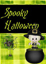 Bright Green Spooky Halloween Background Stock Images