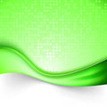 Bright green swoosh line background template Royalty Free Stock Photo