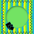 Bright Green/Yellow/Blue Abstract Background Royalty Free Stock Photo