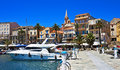 Bright harbor, Calvi, Corsica Royalty Free Stock Photo
