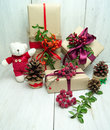 Bright holiday gifts Royalty Free Stock Photo