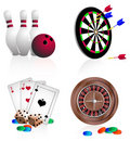 Bright  icons  gambling Royalty Free Stock Image