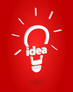 Bright idea insight concept vector illustration Stock Image