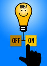 Bright idea looking for good and ideas in life and business Royalty Free Stock Images