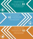 Bright infographic vector tech banners abstract Royalty Free Stock Photo