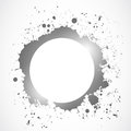 Bright ink splash circle design abstract background Stock Photo