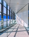 Bright Interior of a modern office building with large windows, Royalty Free Stock Photo