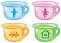 Bright kids potty. Royalty Free Stock Image