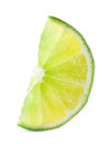 Bright lime slice isolated on white background Stock Photo