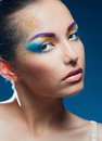 Bright makeup Stock Photography