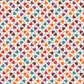 Bright print with geometric shapes. Contemporary abstract background with repeated figures. Colorful seamless pattern