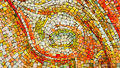 Bright mosaic tiles background