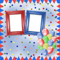 Bright multicolored background with frames Royalty Free Stock Photo