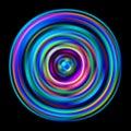 Bright multicolored disk. Vector illustration in chromatic color