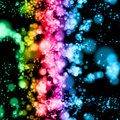 Bright multicolored dotted lights Royalty Free Stock Images