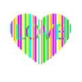 Bright multicolored heart