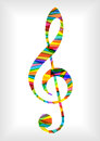Bright music notes clef Royalty Free Stock Photo