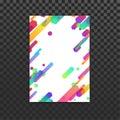 Bright neon gradient lines folder design Royalty Free Stock Photo