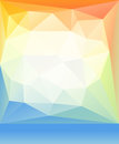 Bright orange blue green spring happy mood low poly background. Abstract vector illustration.