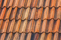 Bright orange roof tiling background Royalty Free Stock Photography