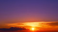 Bright orange sunset and violet sky Royalty Free Stock Photo