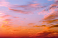 Bright orange and yellow colors sunset sky Royalty Free Stock Photo