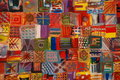 Bright Patchwork Quilt  Royalty Free Stock Photography