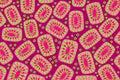 Decorative bright pattern on Burgundy background
