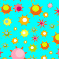 Bright pattern with spring flowers