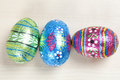 Bright patterned easter eggs Royalty Free Stock Image