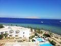 Bright photo of coast beach in egypt Stock Photos
