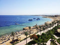 Bright photo of coast beach in egypt Royalty Free Stock Photography