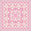 Bright pink colored handkerchief