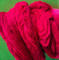 Bright pink cotton threads for weaving Royalty Free Stock Photo