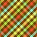 Bright Plaid Pattern Stock Photography