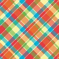 Bright Plaid Pattern Stock Image