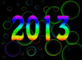 Bright, psychedelic 2013 new year - rainbow Stock Image