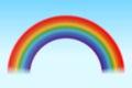 Bright rainbow blue sky