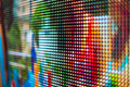 Bright rainbow smd LED screen Royalty Free Stock Photo