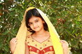 Bright Rajasthani girl Stock Photos