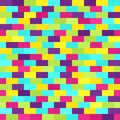 Bright rectangle pattern. Seamless vector brick background Royalty Free Stock Photo