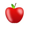 Bright red apple on a white background Royalty Free Stock Images