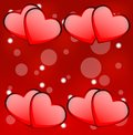 Bright red background with hearts to the day of saint valentin Royalty Free Stock Image